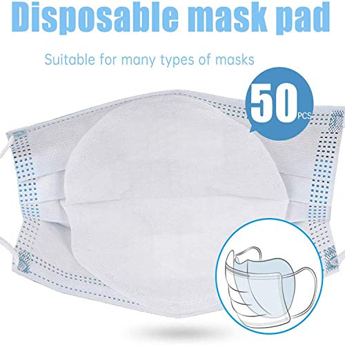 50Pcs Disposable Filter Pads, Disposable Air Purifying Respirator, Mask Filter Dustproof Mask Gasket Face Mask Filter