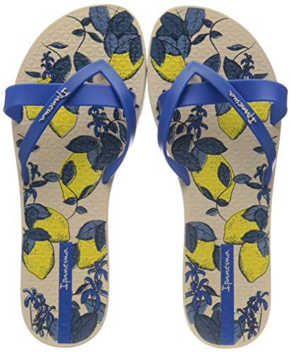 Ipanema Kirei Silk V Fem, Infradito Donna, Multicolore (Beige/Blue 8009.0), 39/40 EU