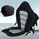penban Deluxe Padded Kayak Seat Fishing Boat Seat with Storage Bag,Detachable Universal Paddle-Board Seat,Adjustable Paddle Board Seat,Fitting Design for All Body Sizes (1 pc)