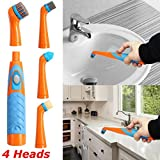 Reveal Power Scrubber Sonic Scrubber Electric Cleaning Brush with 4 Brush Head for Tub