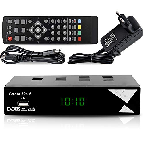 Strom 504 Decodificador Digital Terrestre – TDT / DVB T2 / Full HD / HDMI / Receptor TV / USB / H.265 HEVC / TDT Television / DVB-T2 / 4K