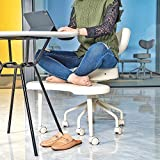 Pipersong Meditation Chair, Home Office Desk Chair, Cross Legged Chair with Back Support and Adjustable Stool, Ergonomic Design for Multiple Sitting Positions, Ivory