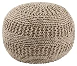Signature Design by Ashley - Benedict Pouf - Wool - Natural