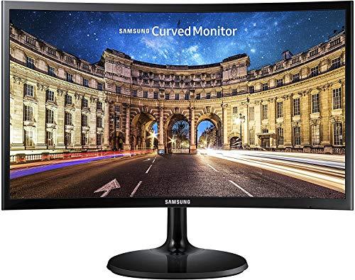 SAMSUNG C24F390 - Monitor Curvo de 24'' (Full HD, 4 ms, 60 Hz, FreeSync, Flicker-Free, LED, VA, 16:9, 3000:1, 1800R, 250 cd/m², HDMI, Base Redonda) Negro