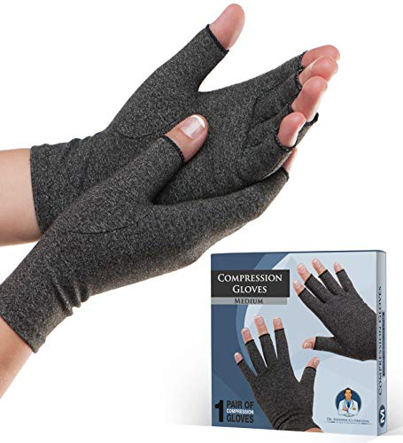 Dr. Frederick's Original Arthritis Gloves for Women & Men - Compression for Arthritis Pain Relief - Rheumatoid & Osteoarthritis - Medium
