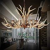 Chambre À Coucher Lumières Bois Lumière Américaine Antique Jane Salon Européen Lumières Restaurant Couloir Lustres Rétro Style Vintage Résine Cerf Lustres
