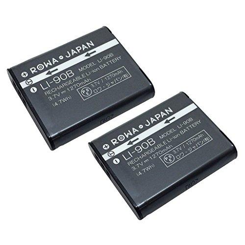 【ロワジャパン社名明記のPSEマーク付】【2個セット】Olympus オリンパス Stylus XZ-2 TG-2 TG-1 SH-60 SH-50 の LI-90B LI-92B Li90B 互換バッテリー