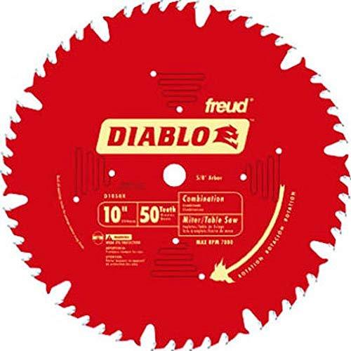 Freud D1050X Diablo 10' 50-tooth ATB Combo Saw Blade w/5/8' Arbor&PermaShield