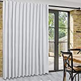 DWCN Patio Sliding Door Curtains - Extra Wide Curtains for Glass Door, Room Divider Blackout Thermal Curtain Panel with Back Tab & Rod Pocket for Bedroom Partition, 100 x 84 Inches, Greyish White
