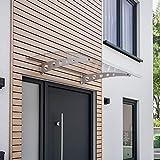 Auvent Sunny 2 - 140 x 90 cm - Marquise de porte d'entrée en...