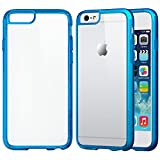 iPhone 6s Plus Case, LUVVITT [Clearview] Hybrid Scratch Resistant Back Cover with Shock Absorbing Bumper for Apple iPhone 6/6s Plus - Clear/Blue