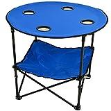 Picnic at Ascot 548-RB Canvas Travel Folding Table, Royal Blue