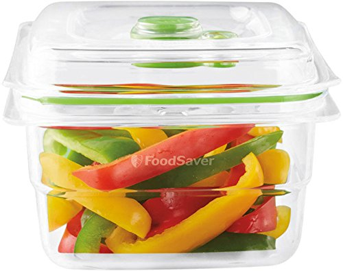 FoodSaver Contenitore Salva Freschezza per Sottovuoto da 1.2 l, BPA Free, Indicatore del Vuoto, Trasparente
