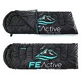 FE Active Sac de Couchage Camping - Extra Long avec...