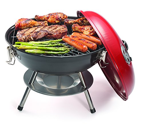 Product Image 6: Cuisinart CCG190RB Portable Charcoal Grill, 14-Inch, Red, 14.5