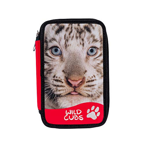CARIOCA Astuccio Wild Cubs | Astuccio 3 Scomparti con Materiale Scolastico, Astuccio Scuola...