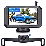 Wireless Backup Camera with 5'' Monitor , LeeKooLuu F09 HD 1080P Bluetooth Backup Camera Stable Digital Signals for Trucks Campers Support Add on Second Wireless RV Camera/License Plate Camera