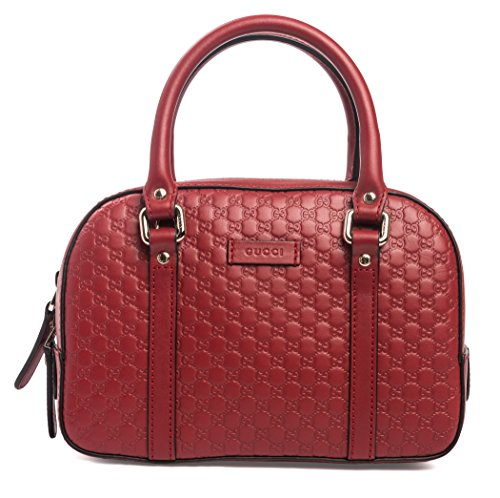 """516PSSzbvwL Gucci MicroGuccisima Margaux Rosso Red small satchel leather New detachable Crossbody strap. New with Tags. Made in Italy. Style #510289 Gold hardware. Dustbag. Controllo Card. Dimensions: 9"""" L x 6"""" H x 4"""". small handles 3.5"""", detachable shoulder drop 23"""". Made in Italy. Authentic, dustbag, tags and Controllo certificate. Made in Italy."""