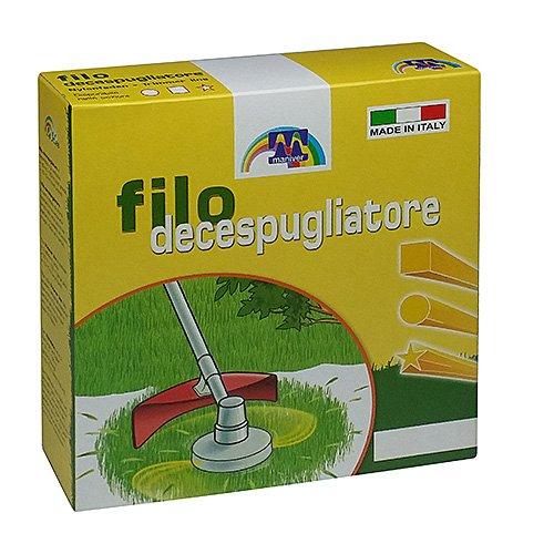 Maniver Filo per decespugliatore quadro, diametro 2.4 x 50 mt