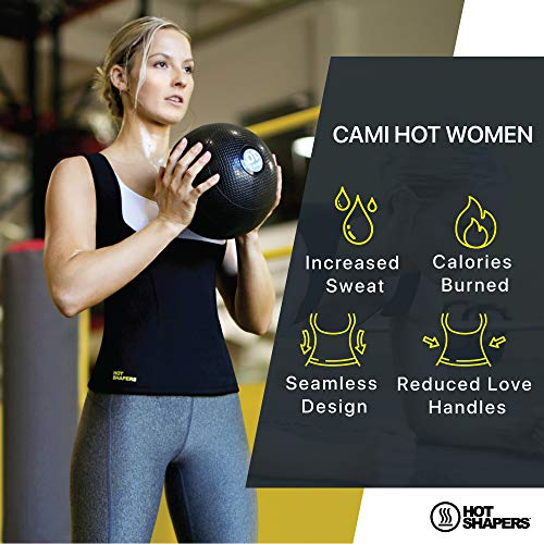 HOT SHAPERS Cami Hot Waist Trimmer with Slimming Sweat Gel (Black, S) 5