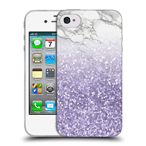 Head Case Designs Officially Licensed by Nature Magick Ultra Violet Purple Sparkles Marble Glitter Sparkle Pastel Soft Gel Case Compatible with Apple iPhone 4 / iPhone 4S
