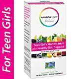 Rainbow Light Vibrance Teen Girl's Multivitamin Plus Healthy Skin Support,Dietary Supplement Made with Whole Foods,180 Count Mini-Tablets