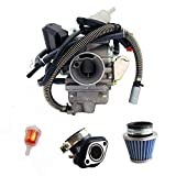 NEW GY6(150cc) Carburetor for 150cc 125cc,152QMJ 157QMI with Air Filter Intake Manifold 4 Stroke Electric Choke Motorcycle Scooter Carburetor