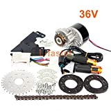 L-faster 24V250W Electric Conversion Kit for Common Bike Left Chain Drive Customized for Electric Geared Bicycle Derailleur (36VTwist Kit)
