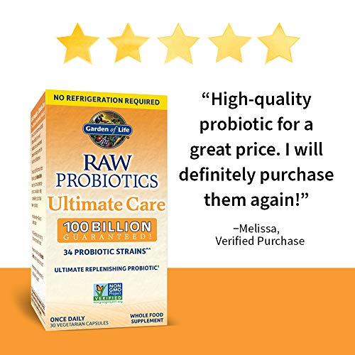 Probiotics For Women, Probiotics For Men And Adults: Raw Probiotics Ultimate Care 100 Billion CFU Shelf Stable Probiotic Supplement, Garden of Life Daily Probiotic, Digestive Enzymes, 30 Capsules 7