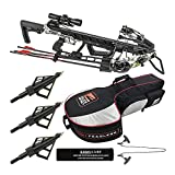 Killer Instinct Ripper 425 FPS Crossbow Kit with Case and HME Broadheads Bundle (3 Items)