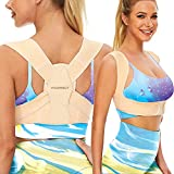 Vicorrect Posture Corrector for Women and Men, Adjustable upper back straightener posture corrector and Providing Pain Relief from Neck, Shoulder, and Upper Back S-M(27'-37')