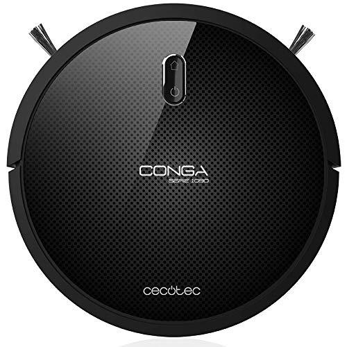 Cecotec Conga Serie 1090 1400 Pa, Tecnología iTech Space, Aspira, Barre, Friega y Pasa la Mopa, 5 Modos, 160 min Autonomía, Programable y con...