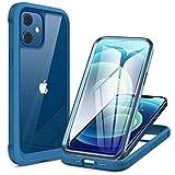 Miracase iPhone 12 mini用 ケース 5.4インチ 衝撃吸収TPUバンパーカバーケース 9H強化ガラス+……