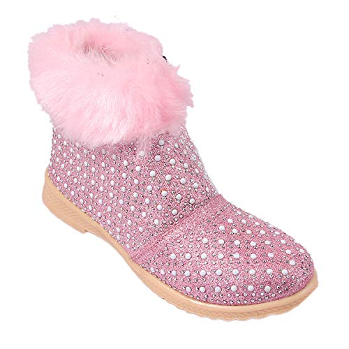 Rgk's Baby Girls' Pink Bootie -3-3.5 Years
