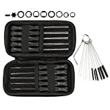 Hipa (Pack of 10 Carburetor Adjustment Tool + Carrying Case + Cleaning Bursh for Common 2 Cycle Small Engine Echo STIHL Poulan Husqvarna MTD Ryobi Homelite Trimmer Weed Eater Chainsaw