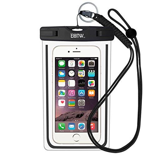 EOTW IPX8 Wasserdichte Tasche, Wasserdichte Handyhülle für Geld, Datenträger und Smartphones bis 16,51 cm (6,5 Zoll), Ideal für den Strand, Wassersport, Radfahren, Boote und Urlaub, Schwarz