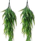 JaneYi - 2 piezas artificiales de plstico para plantas, diseo de helecho Boston