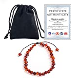 Temgee Baltic Amber Bracelet for Women and Men - Raw Baltic Amber Bracelet Adjustable for Adult(7 inch) - 100% Certified Handmade Natural Amber Beads Bracelet,Natural Pain Relief & Anti-Inflammatory for Migraine, Sinus, Arthritis & More