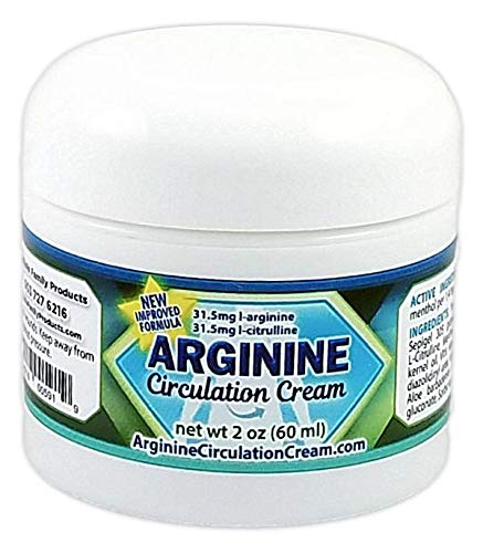 Arginine Circulation Cream - Menthol, L Arginine & L Citrulline Blood Circulation Supplement - Lotion Supports Improved Blood Flow to Cold Hands and Cold Feet and Neuropathy Pain Relief (2 Ounces)