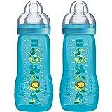 MAM Biberon Easy Active 2e âge, lot de 2 x 330 ml – 6+ mois – Tétine...