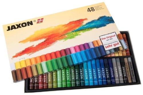 Honsell 47448 - Jaxon Ölpastellkreide, 48er Set im Kartonetui, brillante, lichtechte Farben, ideal für Künstler, Hobbymaler, Kinder, Schule, Kunstunterricht, frei von Schadstoffen