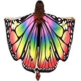 POQOQ Belly Dance Wings Halloween Christmas Party Colorful Butterfly Wings Performance Costumes 168135CM Multicolor