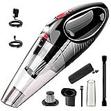 TAIR ハンディクリーナー 車用掃除機 コードレス 8500pa 乾湿両用クリーナー カークリーナー LEDライト付き 家庭 (black)