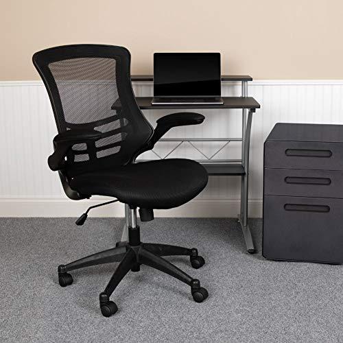Flash Furniture Mid-Back Black Mesh Swivel...