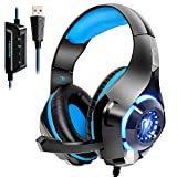 Beexcellent USB Gaming Headset for PC, 7.1 Surround Sound Computer Gaming Headphones, PC Headset...