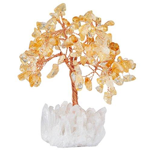 mookaitedecor Citrine Crystal Tree, Quartz Cluster Rock...