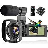 CamVeo Caméra Vidéo 2.7K, Caméscope avec 16X Zoom pPuissant et 36 Mega...