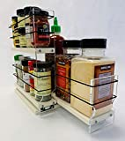 Vertical Spice - 23x2x11 DC - Spice Rack and Storage Organizer Drawer - Cabinet Mounted