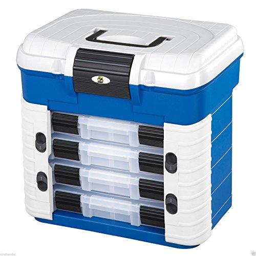 Plastica Panaro Cassetta Pesca 501, per Trasportare, Proteggere e Organizzare l'Attrezzatura, Blu, Dimensioni Esterne 420 x 203 x 400 mm