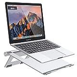 Nulaxy ノートパソコン スタンド PCスタンド 折りたたみ式 アルミ製 放熱対策 滑り止め Macbook/Macbook Air/Macbook Pro/iPad/ノートPC/タブレット/本など10-17インチまで対応 軽量 持ち運び便利 膝/ソファー/ベッドの上でも使用可 C2 (シルバー)